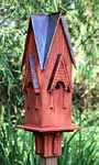Heartwood Westminster Bird House, Rustic Red w/ Brown Roof