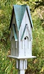 Heartwood Westminster Bird House, White w/ Verdigris Roof