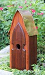 Heartwood Arrowhead Lodge Bird House, Mahogany