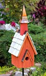 Heartwood Pineywoods Chapel Bird House, Rustic Red