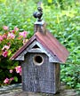 Heartwood Blues Bird Barn Bird House