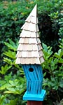 Heartwood Birdiwampus Bird House, Turquoise