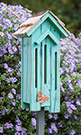 Heartwood Flutter Flat Butterfly House, Turquoise