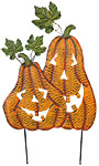 Land & Sea Metal Double Jack-O-Lanterns Yard Art
