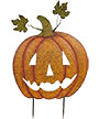 Land & Sea Metal Giant Jack-O-Lantern Yard Art