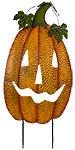 Land & Sea Metal Giant Smiling Pumpkin Yard Art