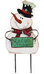 "Land & Sea Metal ""Let It Snow"" Snowman Yard Art"