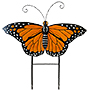 Land & Sea Metal Monarch Butterfly Yard Art