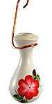 Lone Wolf Raindrop Hummingbird Feeder, Red Posy, 6 oz.