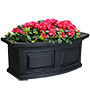 "Mayne Nantucket Window Box, Black, 24""L"