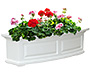 "Mayne Nantucket Window Box, White, 36""L"