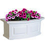 "Mayne Nantucket Window Box, White, 24""L"