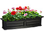 "Mayne Nantucket Window Box, Black, 48""L"