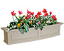 "Mayne Nantucket Window Box, Clay, 48""L"