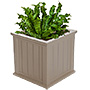 "Mayne Cape Cod Large Square Patio Planter, Clay, 20""L"
