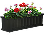 "Mayne Cape Cod Window Planter, Black, 36""L"
