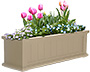 "Mayne Cape Cod Window Planter, Clay, 36""L"