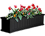 "Mayne Cape Cod Window Planter, Black, 48""L"