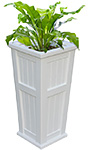 "Mayne Cape Cod Tall Patio Planter, White, 15.5""L x 32""H"