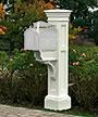 Mayne Liberty Mailbox Post, White