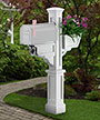 Mayne Signature Plus Mailbox Post, White
