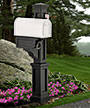 Mayne Rockport Single Mailbox Post, Black