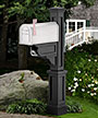 Mayne Dover Mailbox Post, Black