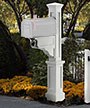 Mayne Dover Mailbox Post, White