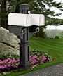 Mayne Rockport Double Mailbox Post, Black