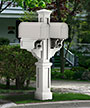 Mayne Rockport Double Mailbox Post, White