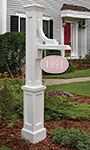 Mayne Woodhaven Sign Post, White