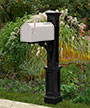 Mayne Newport Plus Mailbox Post, Black