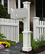 Mayne Newport Plus Mailbox Post, White