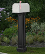 Mayne Bradford Mailbox Post, Black