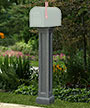 Mayne Bradford Mailbox Post, Granite