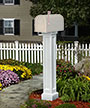 Mayne Bradford Mailbox Post, White