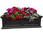 "Mayne Fairfield Window Box, Black, 36""L"