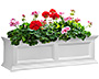 "Mayne Fairfield Window Box, White, 36""L"