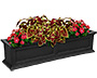 "Mayne Fairfield Window Box, Black, 48""L"