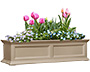 "Mayne Fairfield Window Box, Clay, 48""L"