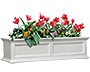 "Mayne Fairfield Window Box, White, 48""L"