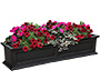 "Mayne Fairfield Window Box, Black, 60""L"