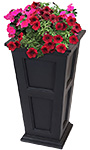"Mayne Fairfield Tall Patio Planter, Black, 16""L x 28""H"