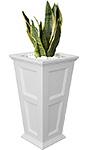 "Mayne Fairfield Tall Patio Planter, White, 16""L x 28""H"