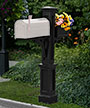 Mayne Westbrook Plus Mailbox Post, Black
