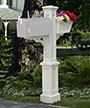 Mayne Westbrook Plus Mailbox Post, White