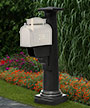 Mayne Statesville Mailbox Post, Black