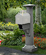Mayne Statesville Mailbox Post, Granite