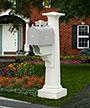Mayne Statesville Mailbox Post, White