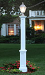 Mayne Signature Lamp Post with Ground Mount, White